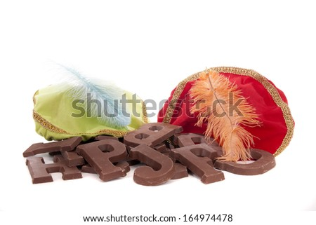 Sinterklaas chocolate letters - stock photo