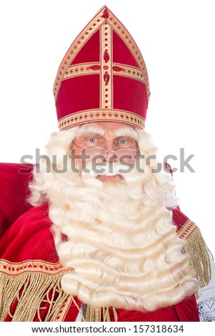 Sinterklaas is resting on his chair