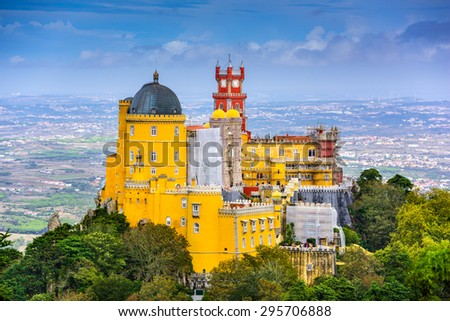 Sintra, Portugal at Pena National Palace. - stock photo