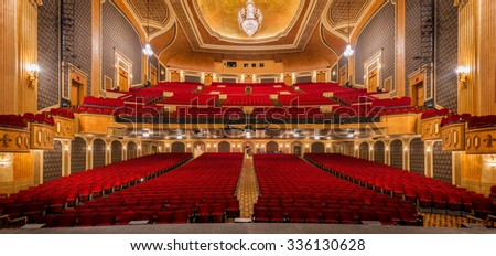 SIOUX CITY, IOWA - OCTOBER 15: Orpheum Theatre (1927) on Pierce Street on October 26, 2015 in Sioux City, Iowa