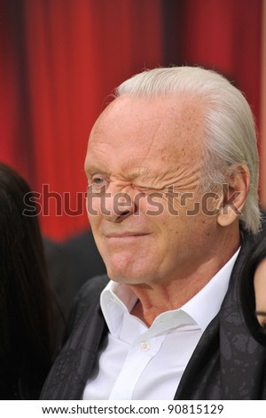 "Sir Anthony Hopkins at the world premiere of ""The Muppets"" at the El Capitan Theatre, Hollywood. November 12, 2011  Los Angeles, CA Picture: Paul Smith / Featureflash"