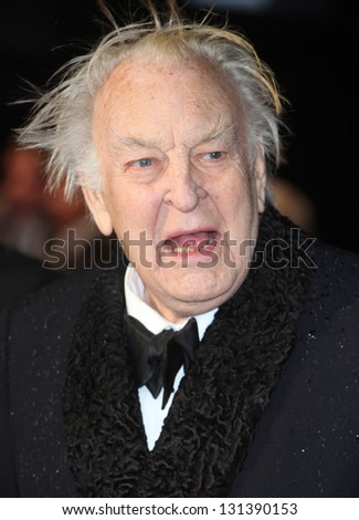 Sir Donald Sinden arriving at the UK premiere of Run For Your Wife, at the Odeon Leicester Square, London. 05/02/2013 Picture by: Alexandra Glen