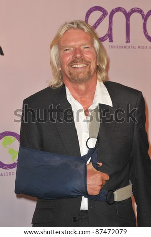 Sir Richard Branson at the 20th anniversary Environmental Media Awards at Paramount Studios, Hollywood. October 25, 2009  Los Angeles, CA Picture: Paul Smith / Featureflash - stock photo