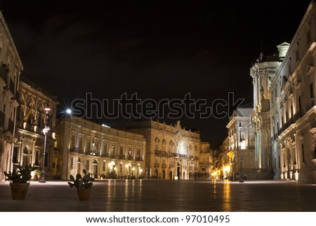 Siracusa Dome Square - stock photo