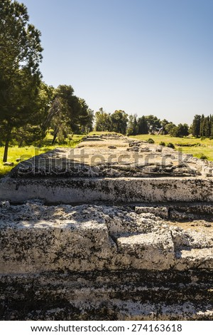 Siracusa, Sicily, Italy. Photo of ancient ruins in Syracuse.  - stock photo