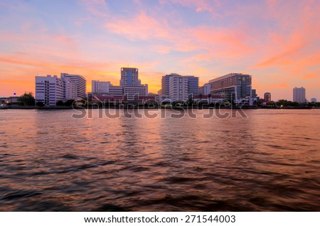 Siriraj Hospital, a major government hospital in Bangkok, Thailand situated by the Chao Praya River.