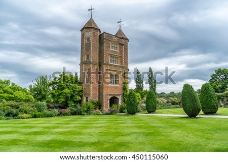 Sissinghurst ,England on 7th July 2016: Sissinghurst's garden was created in the 1930s by Vita Sackville-West, poet and gardening writer, and her husband Harold Nicolson, author and diplomat.