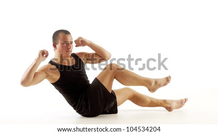Sit Up - stock photo