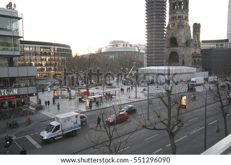 Site of the berlin christmas market terroristic truck crash, several weeks after the assault - shot on January 6th, 2017 in Berlin, Germany