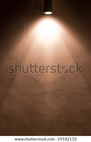 site of the old painted walls of the house - stock photo