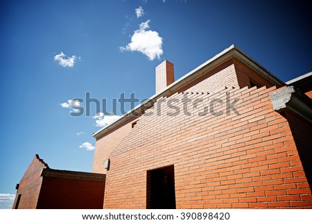 Site under construction in Spain. - stock photo