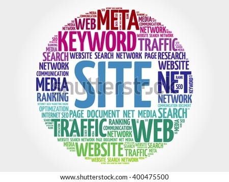 SITE word cloud, business concept - stock photo