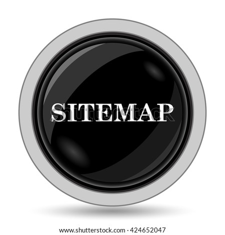 Sitemap icon. Internet button on white background.