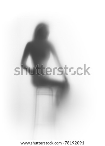Sitting woman abstract - stock photo