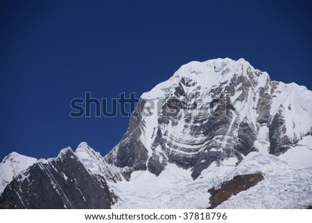 Siula mountain in high Andes, Cordillera Huayhuash, Andes, Peru, South America