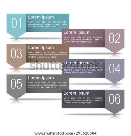 Six infographics design elements with numbers and place for your text - stock photo