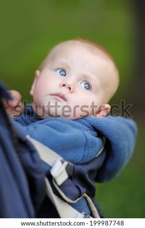 Six month baby boy portraits - stock photo