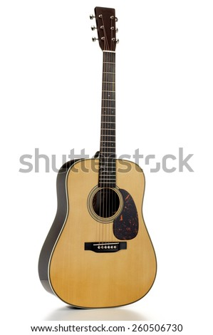 Six String Acoustic Guitar  - stock photo
