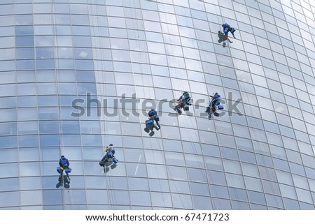 Six window cleaners