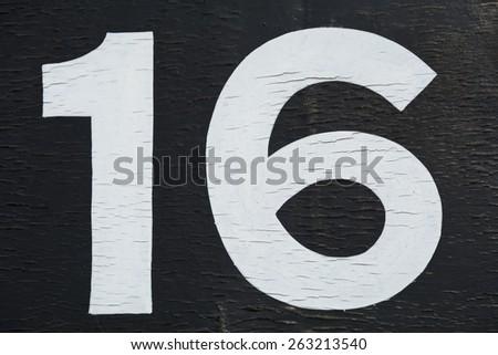 Sixteen - stock photo