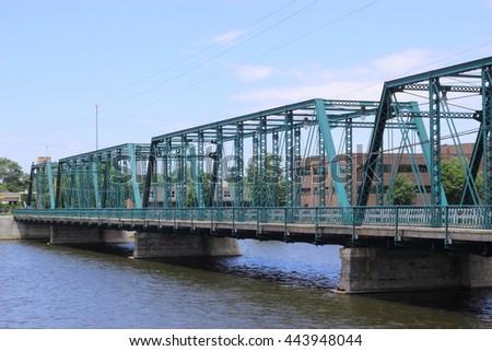 Sixth Street Bridge - stock photo