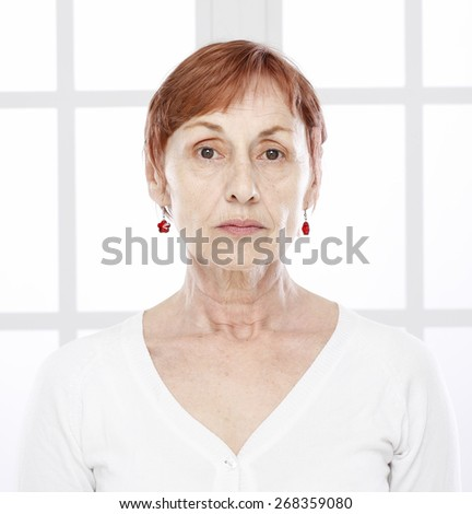 Sixty years woman - stock photo