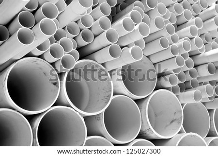 Size of PVC pipes - stock photo
