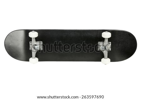 Skateboard isolated on white - stock photo