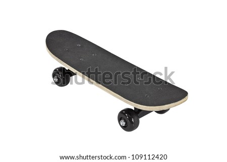 Skateboard isolated on white with clipping path.