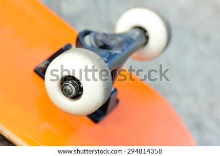 skateboard wheels - stock photo