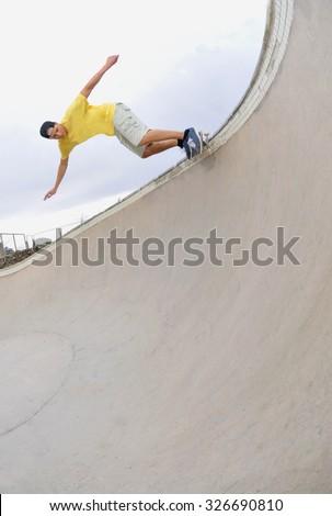 skateboarding fun in the sun. - stock photo