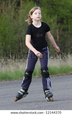 Skater girl - stock photo