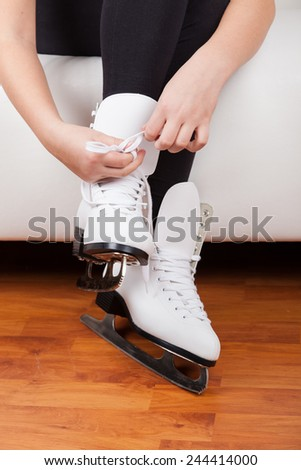 Skater wearing skates - stock photo
