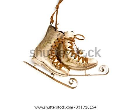 skates - Christmas Decoration - stock photo