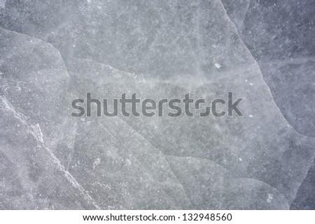 skating marks on a natural rink - stock photo
