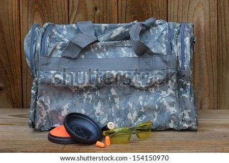 Skeet shooting gear - stock photo