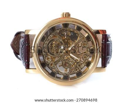 skeleton watch - stock photo