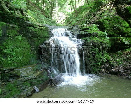 Skellar Falls, NY - stock photo