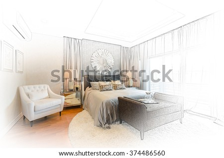 Interior Design Bedroom Sketches bed sketch stock images, royalty-free images & vectors | shutterstock