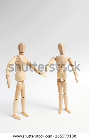 sketch doll - stock photo