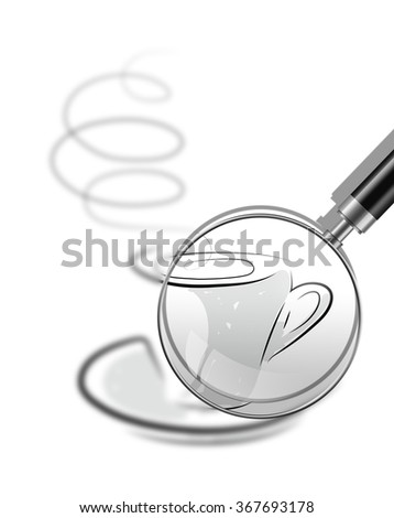 sketch illustration - cup of coffee made in 2d software