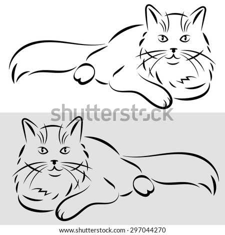 sketch of a cat. Raster version - stock photo