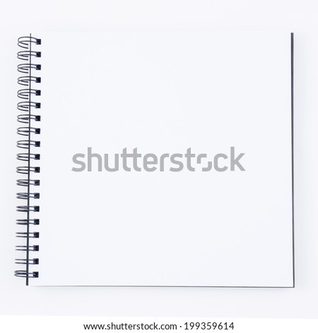 Sketchbook Isolated on white background.
