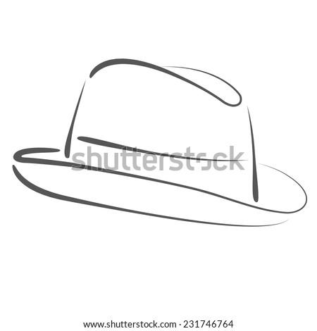 Vintage Mans Top Hat Label Design Stock Vector 267908552 ...
