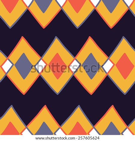 sketchy style geometric pattern - stock photo