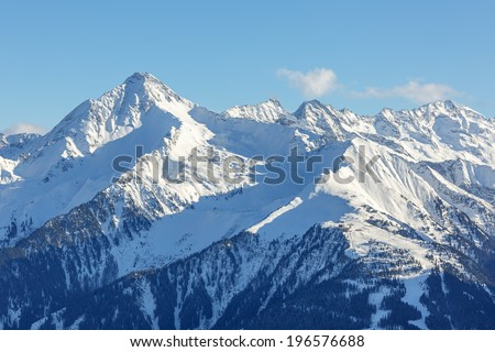 Ski area Ahorn - Mayrhofen, Austria - stock photo