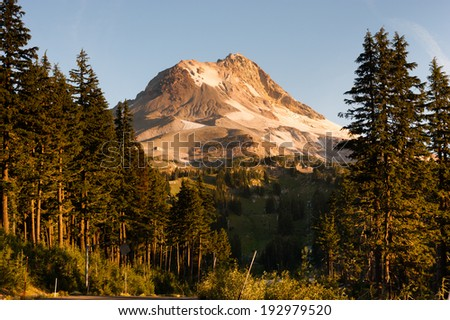 Ski Chair Lift Wild Outdoors Timberline Mt Hood Cascade Mountains - stock photo
