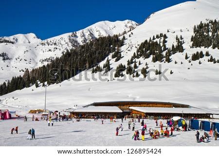 ski facility - stock photo