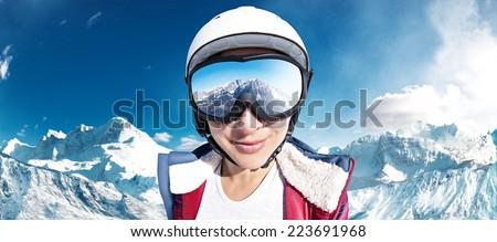 Ski Girl - stock photo