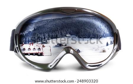 Ski goggles - stock photo